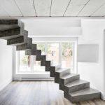 Бетонная лестница с двойным повторяющимся каркасом
