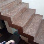 Зеркальная бетонная монолитная лестница г. Бердск