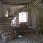 Полувинтовая лестница с забежными ступенями к. п. Еврапейский.