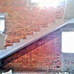 Монолитная лестница с 2мя поворотными площадками. к.п. Лесное, ул. Ореховая.