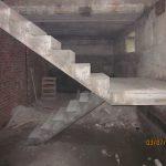 П-образная лестница с поворотной площадкой на 180гр., без примыкания, п. Новый.