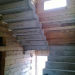 П-образная ломанная лестница с поворотной площадкой на 180гр. г. Бердск