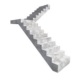 Г-образная прямая лестница