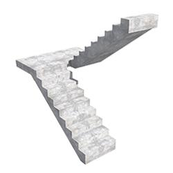 П-образная прямая лестница